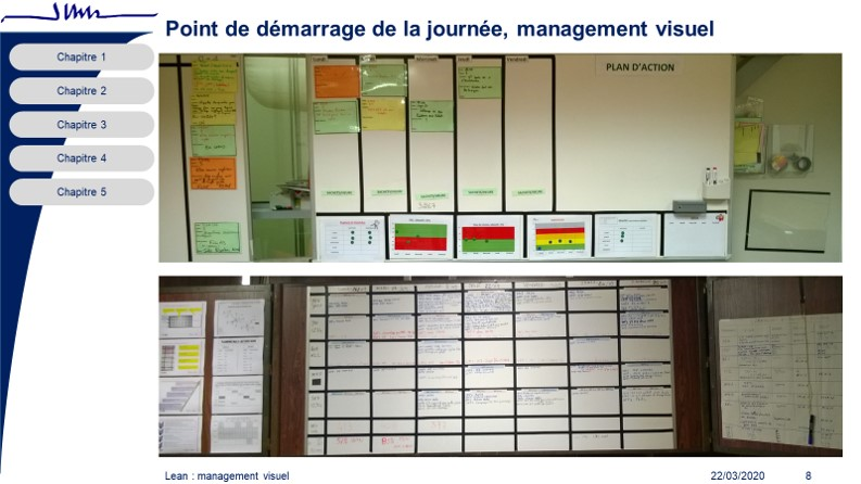 jlce management visuel coordination interventions